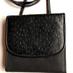 Michael Stevens Leather Crossbody Wallet